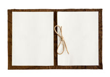 Note Book. Open note book isolated in a white background stock image