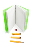 Note Book and Broken Pencil Royalty Free Stock Photography