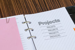 Note book close up Royalty Free Stock Image
