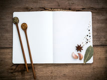 Note book that the device is equipped with cooking consists of a Royalty Free Stock Images