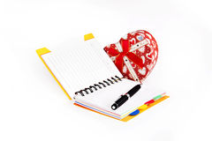 Note book with gift box Royalty Free Stock Photo