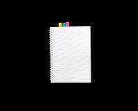 Note book isolated for note and write.  Royalty Free Stock Photography
