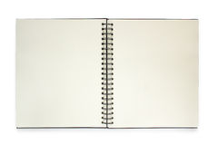 Note book isolated on white background. Stock Images