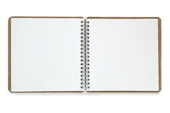 Note book isolated on white background. Royalty Free Stock Images