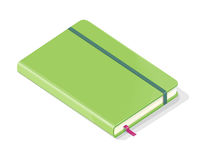 Note Book Isolated on White Background. Vector Royalty Free Stock Images