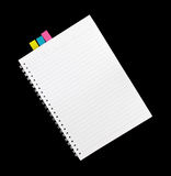 Note book isolated for write.  Royalty Free Stock Photo
