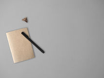 Note book and moth. Stock Image