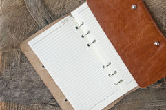 Note book with nature background Stock Photos