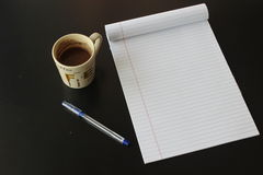 Note book. Office life coffee pen and note book Stock Image