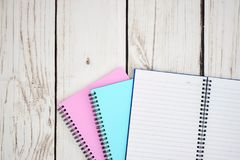 Note Book Pad. A studio photo of a notebook pad Royalty Free Stock Photography