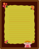 Note book page layout royalty free illustration