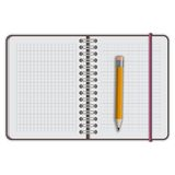 Note book paper with pen Stock Images
