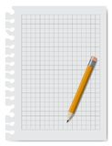 Note book paper with pencil Royalty Free Stock Photography