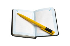 Note book and pen Royalty Free Stock Photos
