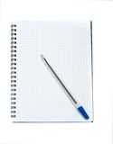 Note book and pen Stock Image