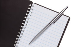 Note Book with pen Stock Photography