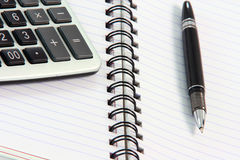 Note book and pen Royalty Free Stock Images
