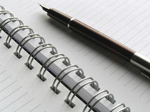 Note book and pen 6. Note book and pen Royalty Free Stock Photography
