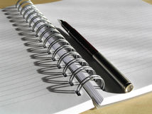 Note book and pen 7. Note book and pen Royalty Free Stock Photography