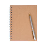 Note book and pen. Royalty Free Stock Images