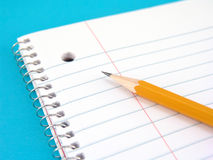 Note book with pencil Royalty Free Stock Image