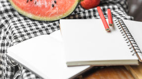 Note book and pencil Royalty Free Stock Photo