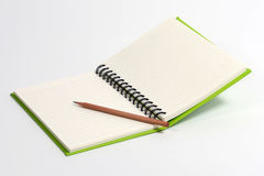 Green Note Book Royalty Free Stock Photography