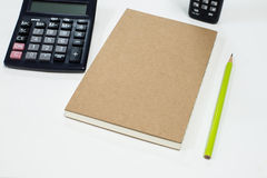 Note book with pencil Royalty Free Stock Photo