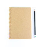 Note book and pencil Stock Photography
