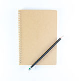 Note book and pencil Stock Photos