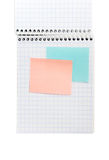 Note book and post-its Royalty Free Stock Images