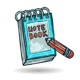 Note Book Sketch Royalty Free Stock Photography