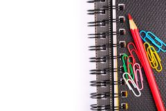 Note book for taking notes with a pen Royalty Free Stock Photos