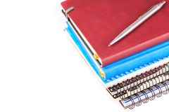 Note book for taking notes with a pen Stock Photography