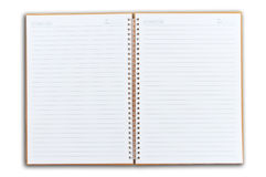 Note book two face open royalty free stock photo
