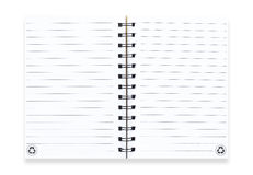 Note book  on white Royalty Free Stock Photography