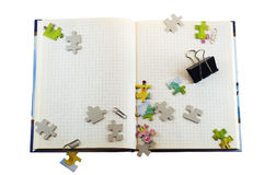 Note book on white isolate Stock Images