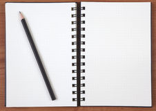 Note Book With Pencil Stock Images