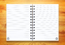 Note book on wood Royalty Free Stock Images