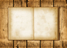 Note book on a wood background Stock Photo
