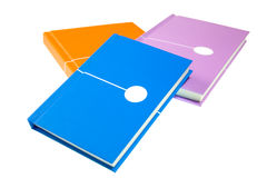 Note Books. Colorful Mini Note Books Isolated on White Background Stock Photography