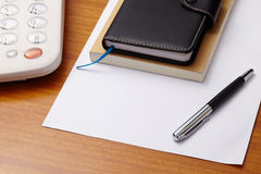 Note books with pen and paper for text Royalty Free Stock Images