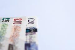 Note britanniche di valuta Immagini Stock