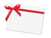 Note card with ribbon bow Stock Image