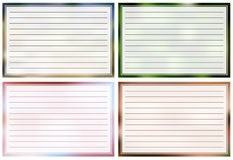 Note cards Royalty Free Stock Photography