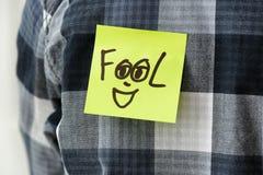 Note collante avec le mot Photos libres de droits