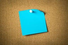 Note collante bleue Photos libres de droits