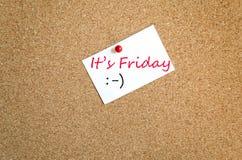 Note collante c'est concept de vendredi Photographie stock libre de droits