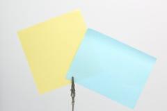 Note collante dans le clipe Image libre de droits
