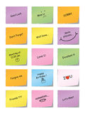 Note collante de message Images stock